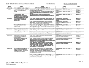 Grade 10 World History Curriculum Alignment Guide