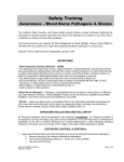 Bloodborned Pathogen Awareness and Sharps Disposal