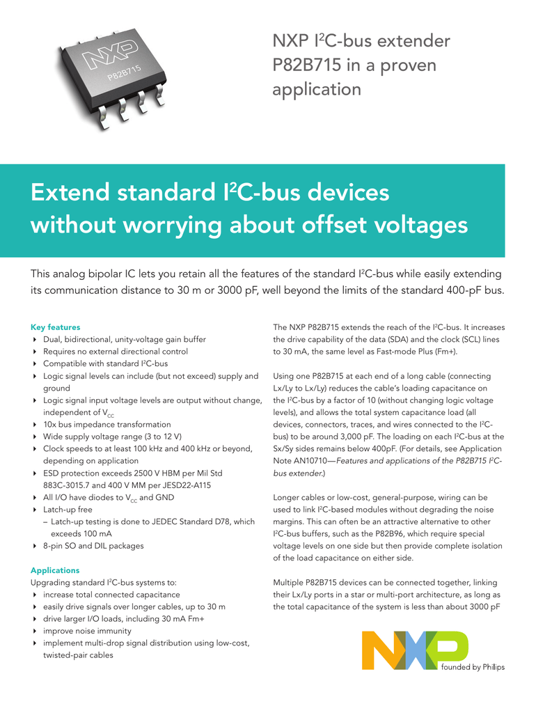 Extend standard I2C-bus devices without worrying about offset