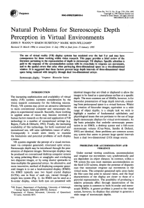 Natural Problems for Stereoscopic Depth Perception in Virtual