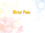 Etiology of painful wrist
