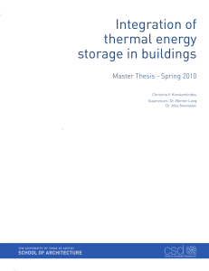 Integration of thermal energy storage in buildings