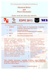 Electrical Drives and Power Electronics - EDPE 2013