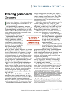 Treating periodontal diseases