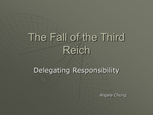The Fall of the Third Reich - York Region District School Board