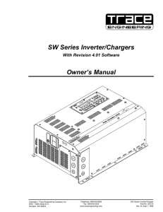 SW Series Inverter/Chargers Owner`s Manual