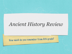 Ancient History Review - Mr. Kash`s History Page