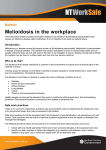 Melioidosis in the workplace