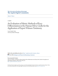 An Evaluation of Metric Methods of Race Differentiation in the
