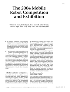The 2004 Mobile Robot Competition and Exhibition