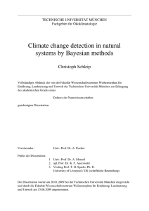 Climate change detection in natural systems by