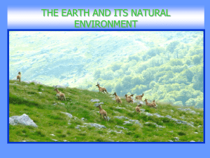 the earth and the natural places