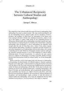 The Unbalanced Reciprocity between Cultural Studies and