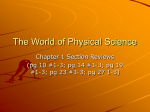 The World of Physical Science Ch1 ANSWERS