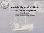 Variability and shifts in marine ecosystems