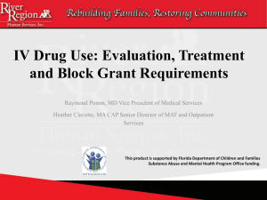 What is the Block Grant? - Florida Alcohol and Drug Abuse Association