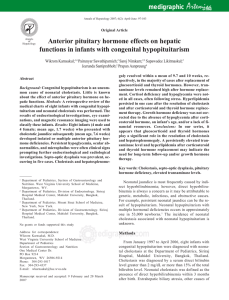 Anterior pituitary hormone effects on hepatic functions