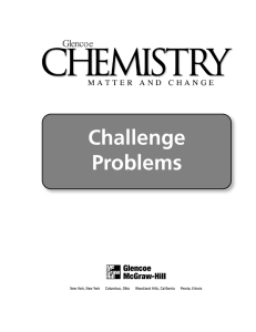 Chemistry Challenge Problems