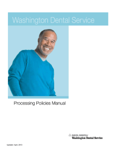 Updated April, 2010 - Delta Dental of Washington