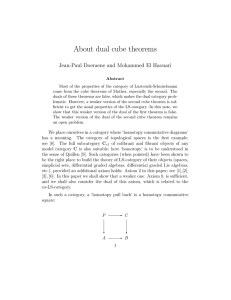 About dual cube theorems