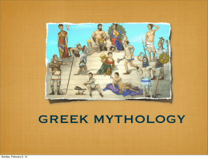 Greek Mythology - Scarsdale Schools