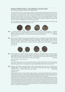 ROMAN IMPERATORIAL AND IMPERIAL SILVER COINS