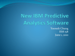 New IBM Predictive Analytics Software