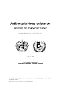 What is the nature and extent of antibacterial drug