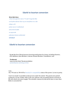 Edarbi to losartan conversion