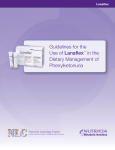 Guidelines for the Use of Lanaflex™ in the Dietary Management of