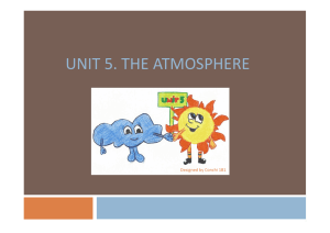 UNIT 5_THE ATMOSPHERE