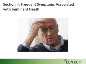 Core Section II: Frequent Symptoms Associated with Imminent