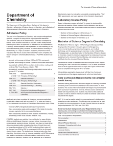 Department of Chemistry - Catalog
