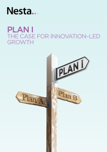 PLAN I: the case for innovation–led growth