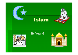 Year 6 on Islam