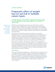 Prognostic effect of weight loss on survival in
