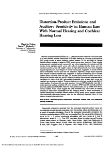 Distortion-Product Emissions and Auditory Sensitivity in Human Ears