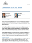 Canadian Fixed Income 2017 Outlook