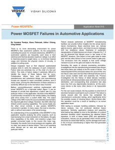 Power MOSFET Failures in Automotive Applications