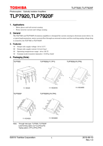 TLP7920(F) - Toshiba America Electronic Components