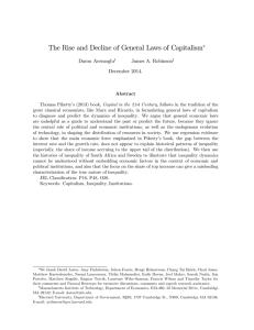 The Rise and Decline of General Laws of Capitalism