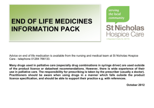 end of life medicines information pack