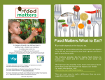 Food Matters:What to Eat? - Program on Reproductive Health and