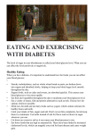 EATING AND EXERCISING WITH DIABETES