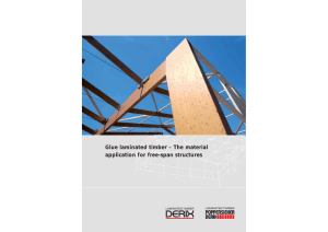 Glue laminated timber – The material application for free