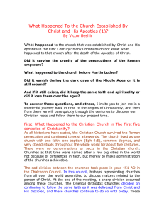 What Happened To the Church Established By Christ and His