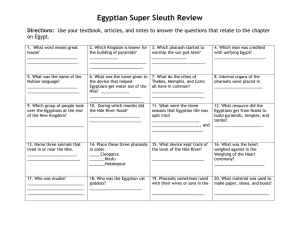 Egyptian Super Sleuth Review Directions