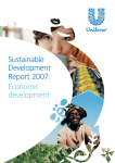 Sustainable development report 2007: Economic