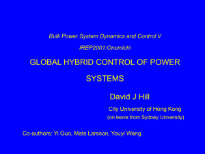 Global Hybrid Control of Power Systems