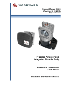 F-Series Actuator and Integrated Throttle Body